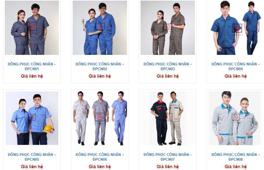 Mãu quần áo công nhân