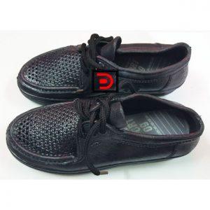 Giày rọ nhựa cột dây công nhân màu đen