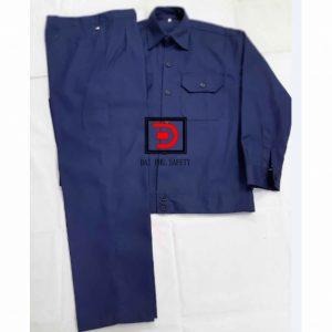 Quần áo bảo hộ công nhân màu xanh đen