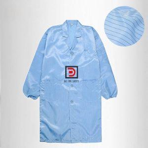 Áo khoác phòng sạch màu xanh