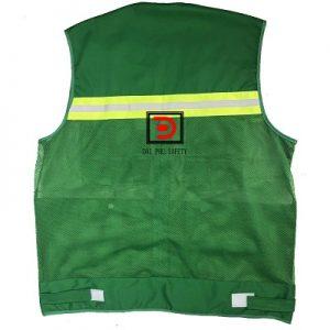 Áo gile bảo hộ công nhân màu xanh lá cây